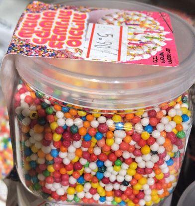 תמונה של סוכריות צבעוניות לעוגה - יחידה